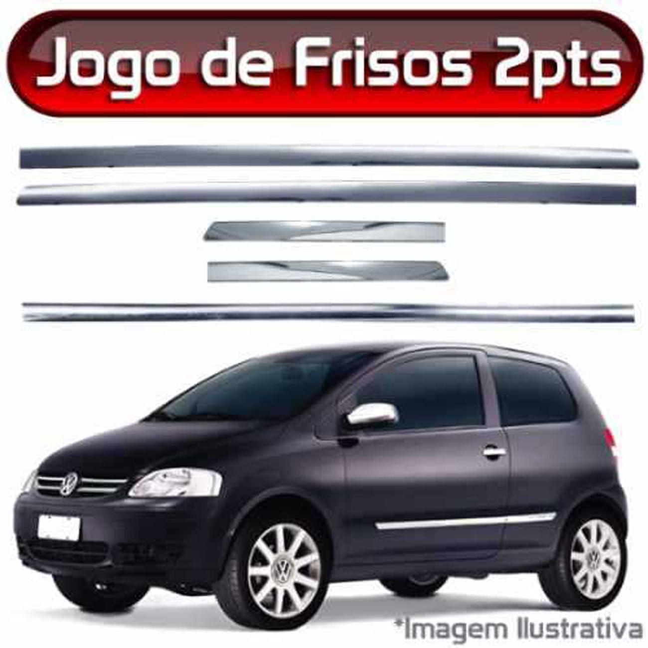 Friso Cromado Gol Palio Ka Peugeot 206 Clio Fusca 2 Portas