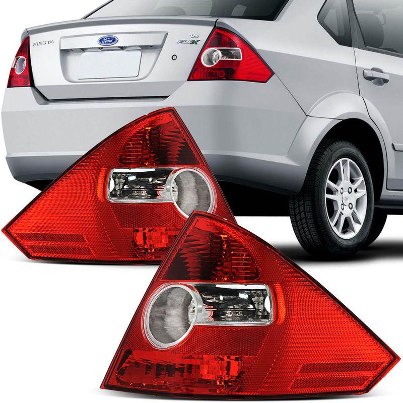 Lanterna Traseira Fiesta Sedan 03 04 05 06 07 08 09 10 Bicolor