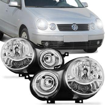 Farol-Polo-Hatch-Sedan-2003-2004-2005-2006-Vw-Duplo-Cromado-Connect-Parts-1-
