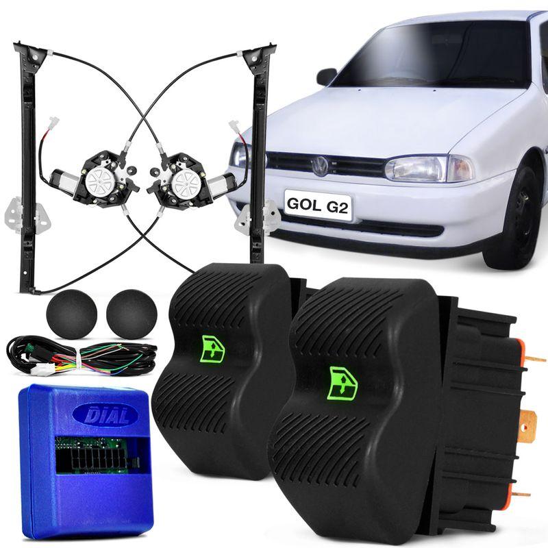 Kit Vidro Elétrico Gol Parati Saveiro G2 G3 4 P Dianteira Sensorizado
