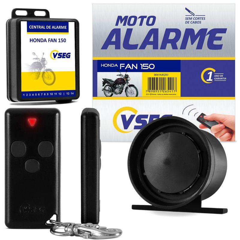 Alarme Moto Dedicado CG 150 Fan 09 a 12 Sem Injeção Controle Canivete