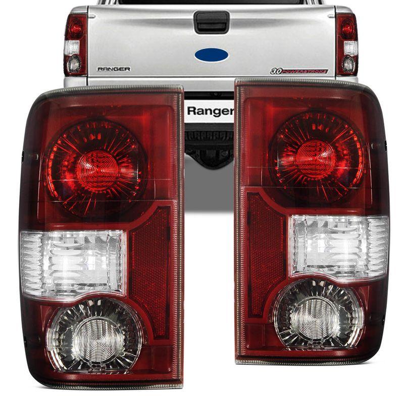Lanterna Traseira para Ford Ranger 04 a 09 Serve 93 a 03