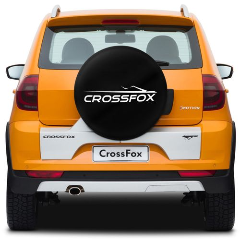 Capa de Estepe Crossfox 05 a 14 Basic Com Cadeado Aro 15 Polegadas