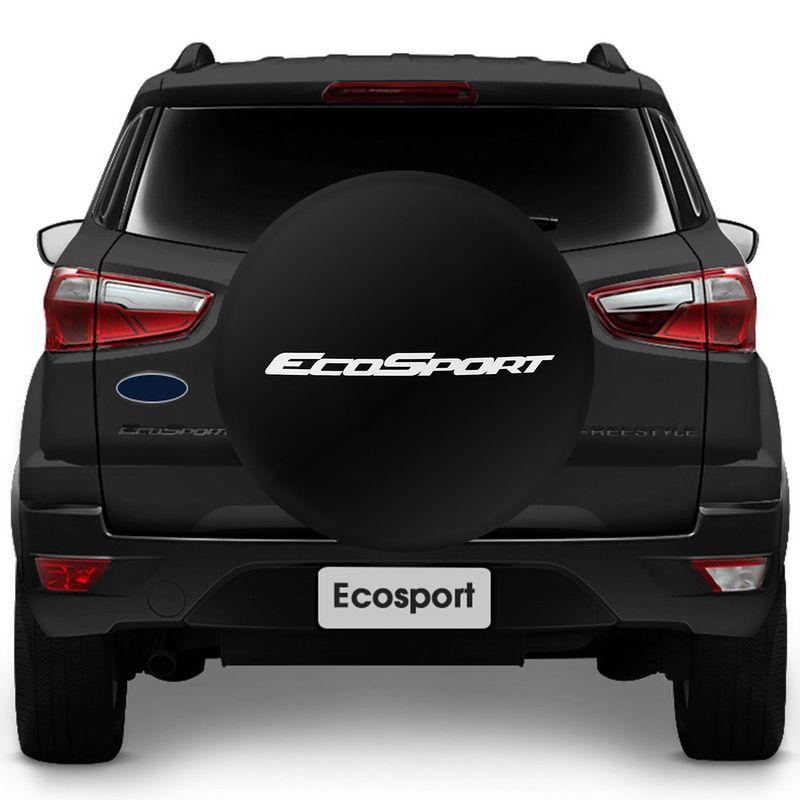 Capa para Estepe Ecosport 03 04 05 06 07 08 09 10 11 12 Nova Ecosport 13 14 Basic Com Cadeado Aro 15