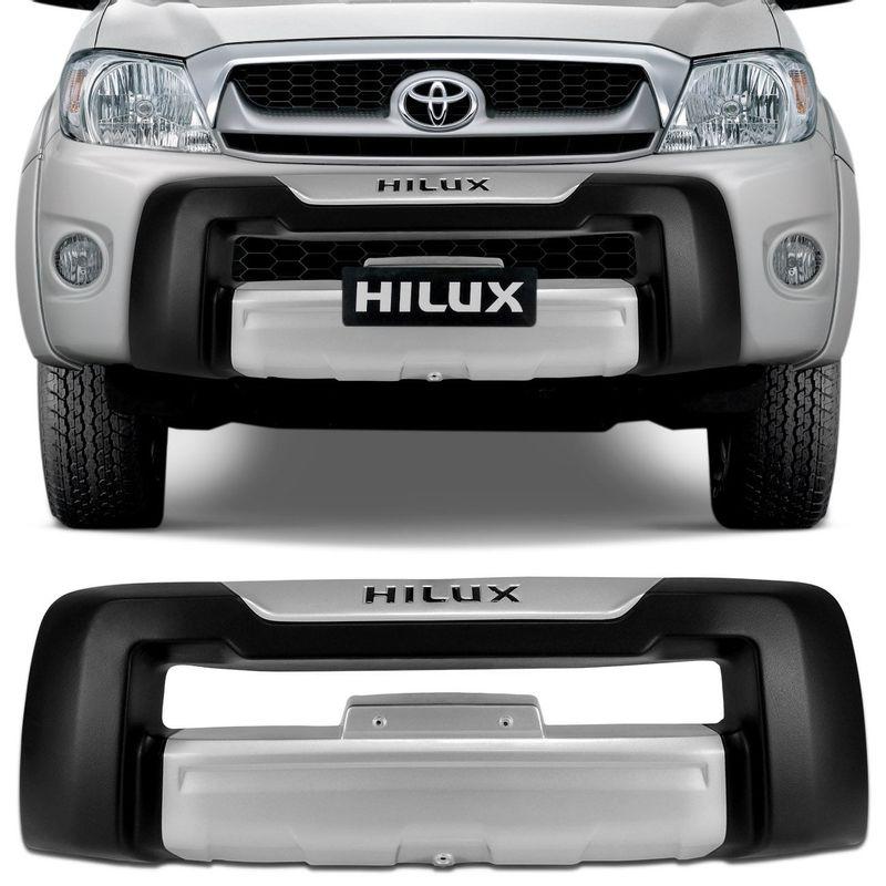 Overbumper Hilux SR SRV 09 a 11 Preto com Prata Front Bumper