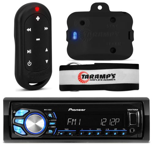 MP3 Pioneer USB iPod iPhone Android + Controle Taramp's 300M Preto