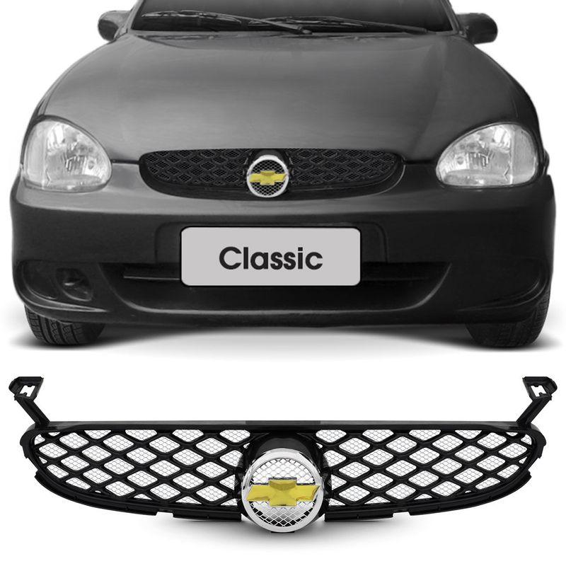 Grade Dianteira Colmeia Corsa Hatch Classic 99 a 10 Emblema com Tela