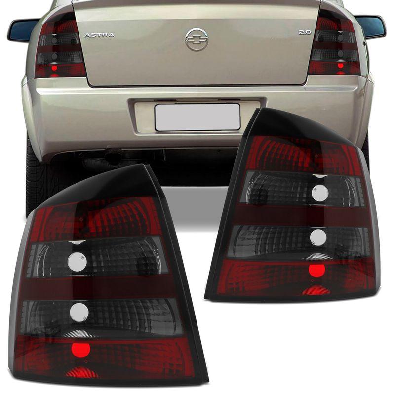 Lanterna Traseira Astra Hatch 03 a 12 Fumê Bicolor