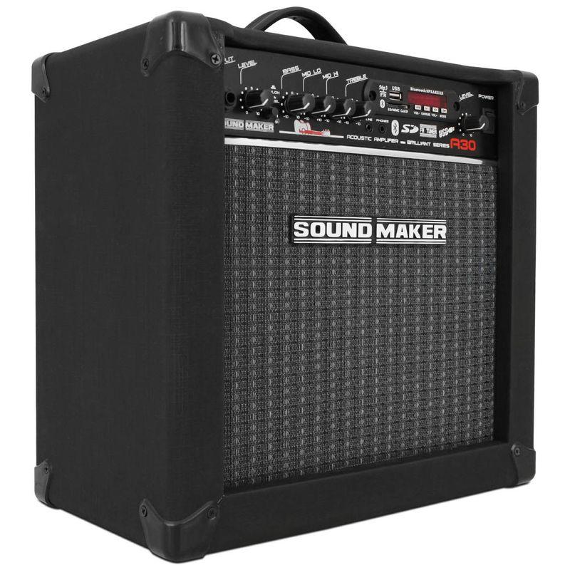 Caixa Amplificada Violão Sound Maker Cube A30 30W Preta