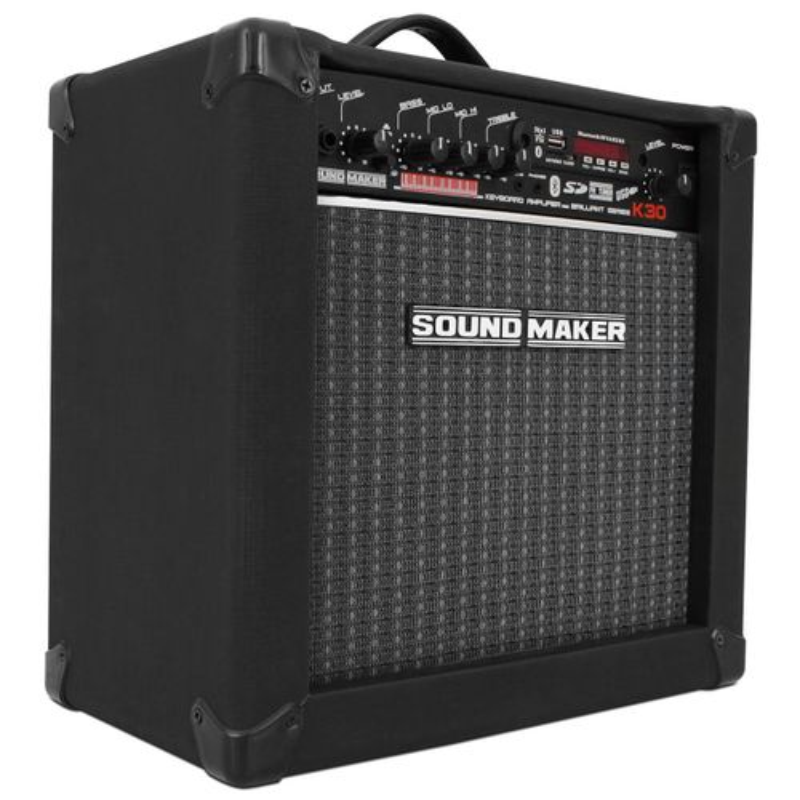 Caixa Amplificada Teclado Sound Maker Cube K30 Brilliant Series 30W Preta