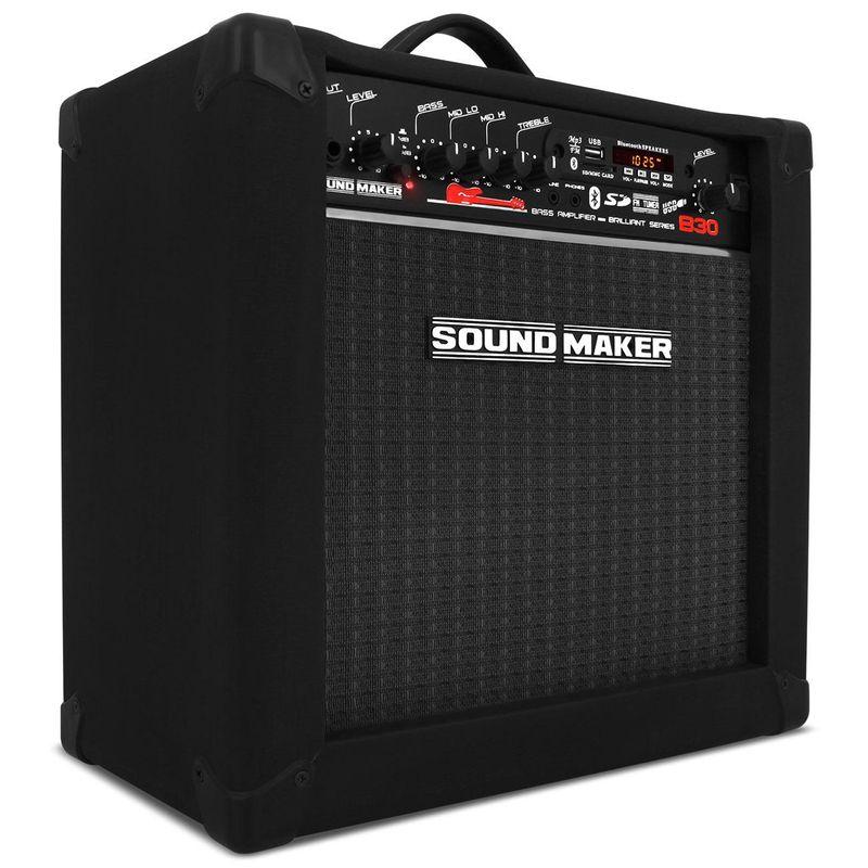 Caixa Amplificada Contra Baixo Sound Maker Cube B30 Brilliant Series 30W Preta