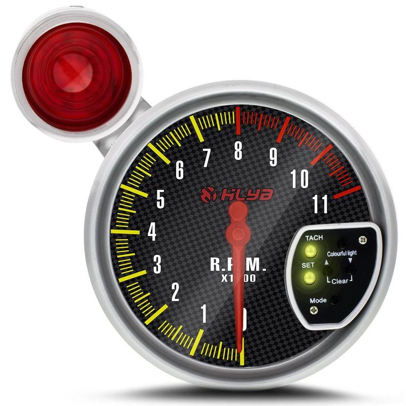 Velocímetro Conta Giro Tuning LED 7 Cores Shift Light Vermelho