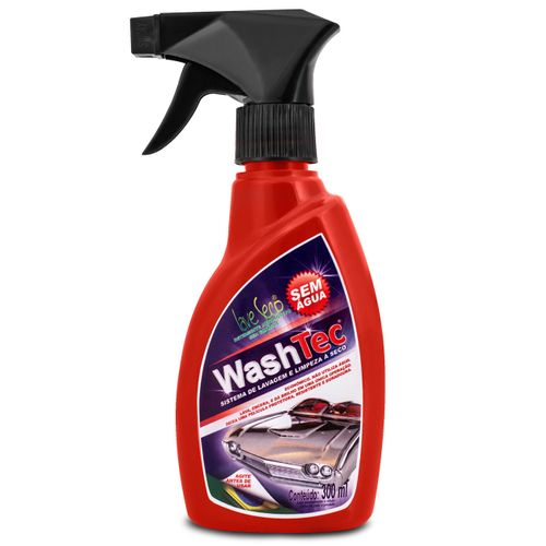 Spray Lavagem a Seco Automotivo Henlau Washtec Spray 300ml