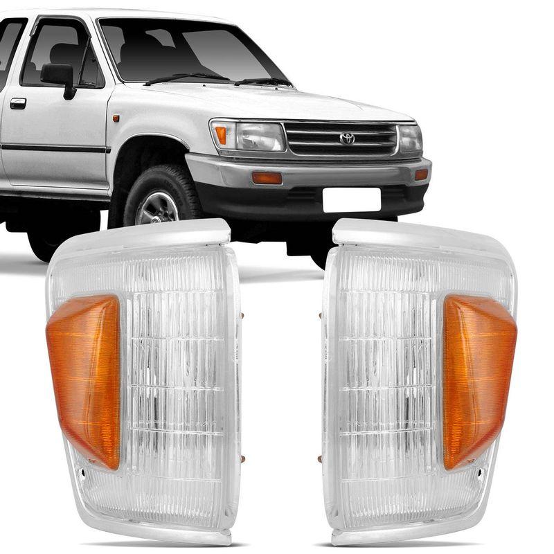 Lanterna Dianteira Pisca Hilux SR5 92 a 00 4x4 Cristal Laranja Moldura Fina