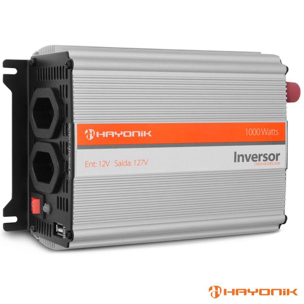 Inversor 1000w Transformador 12v P/ 110 127 Veicular Hayonik