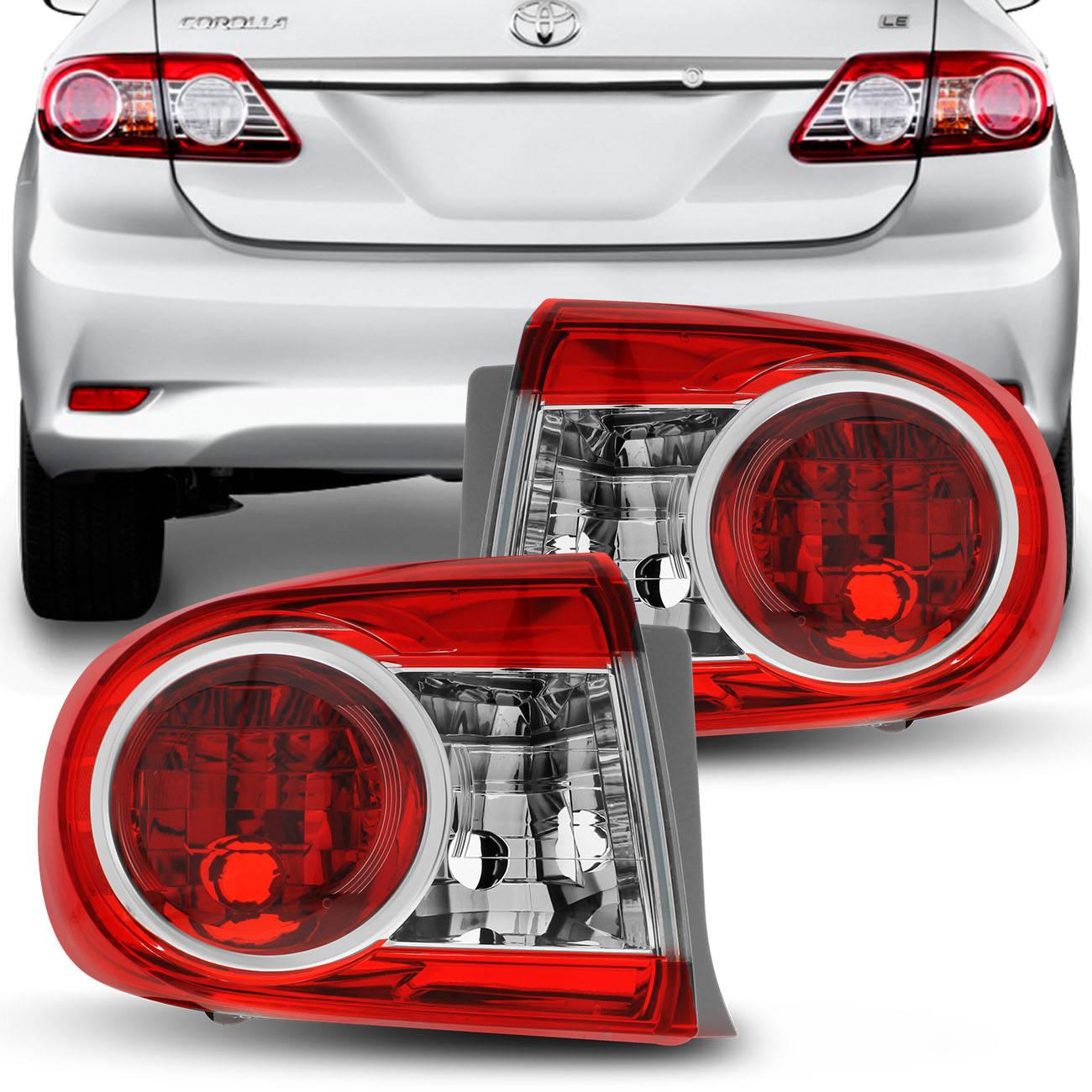 Lanterna Traseira Corolla 12 a 14 Bicolor Pisca Cristal Sem LED Lado Direito Passageiro