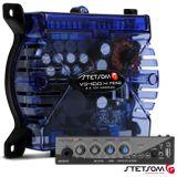 Modulo-Amplificador-vs400-4-mini-Azul---Mixer-P10-P2-e-Microfone-usb-Connect-Parts