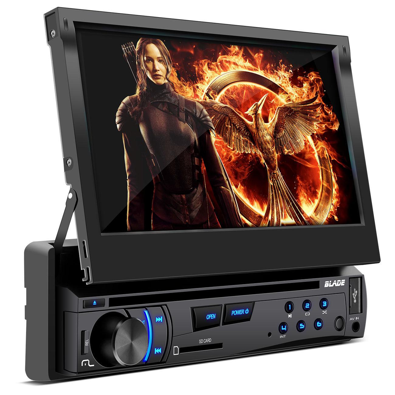 DVD Multilaser Blade P3295 7 Polegadas Retratil USB MP3 + Câmera Ré