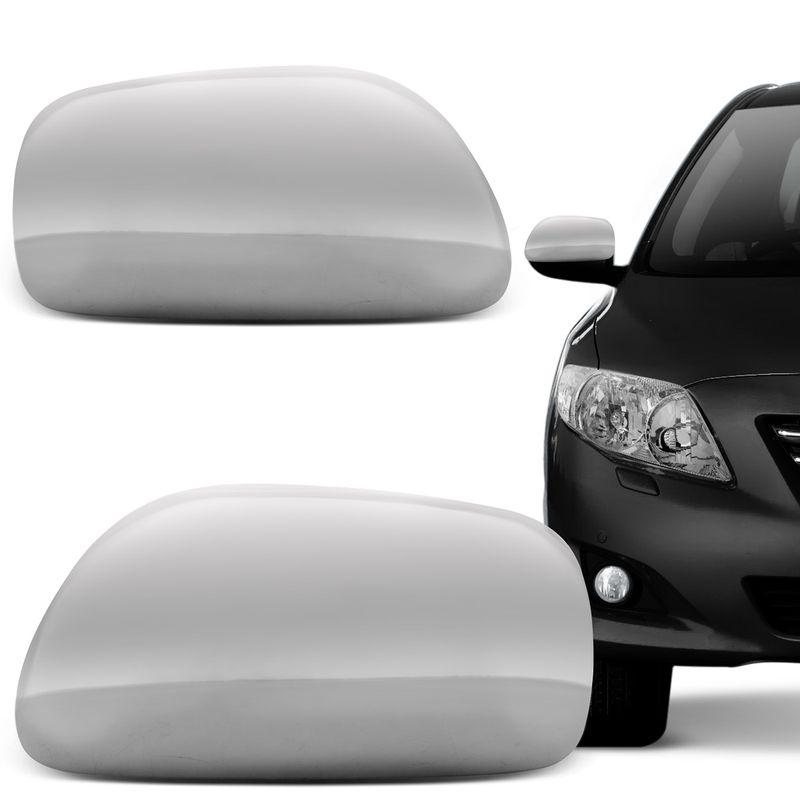 Capa Retrovisor Cromada Corolla 08 a 12 Sem Furo para Pisca
