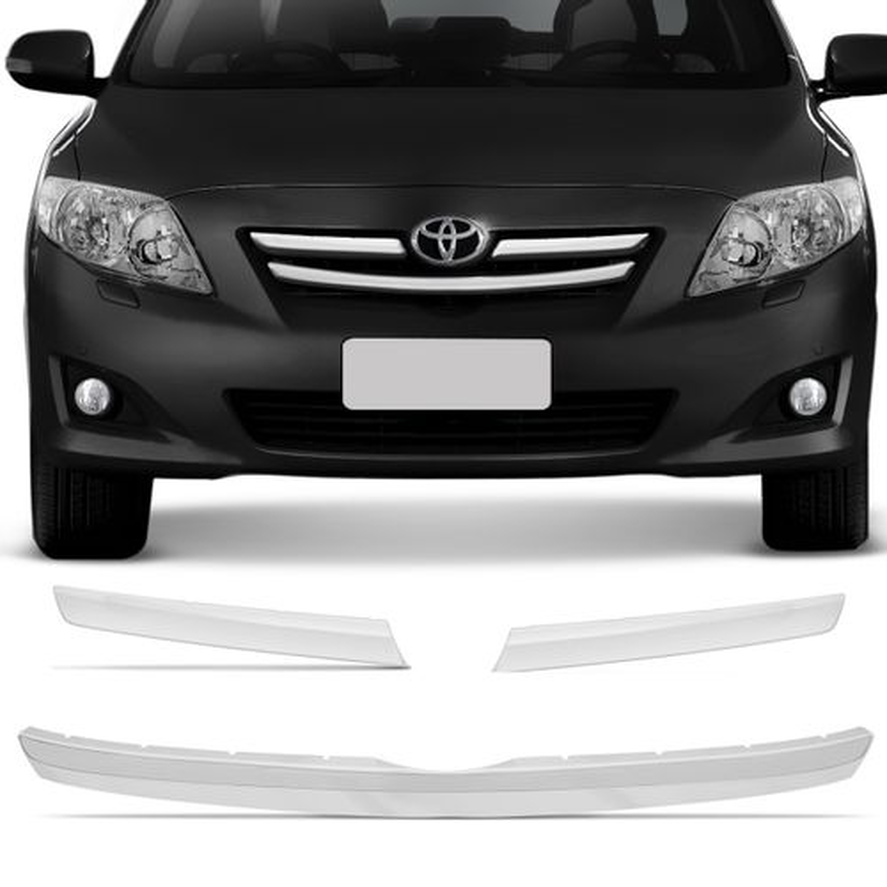 Kit Friso Cromado Grade Frontal Corolla SE-G 08 A 12