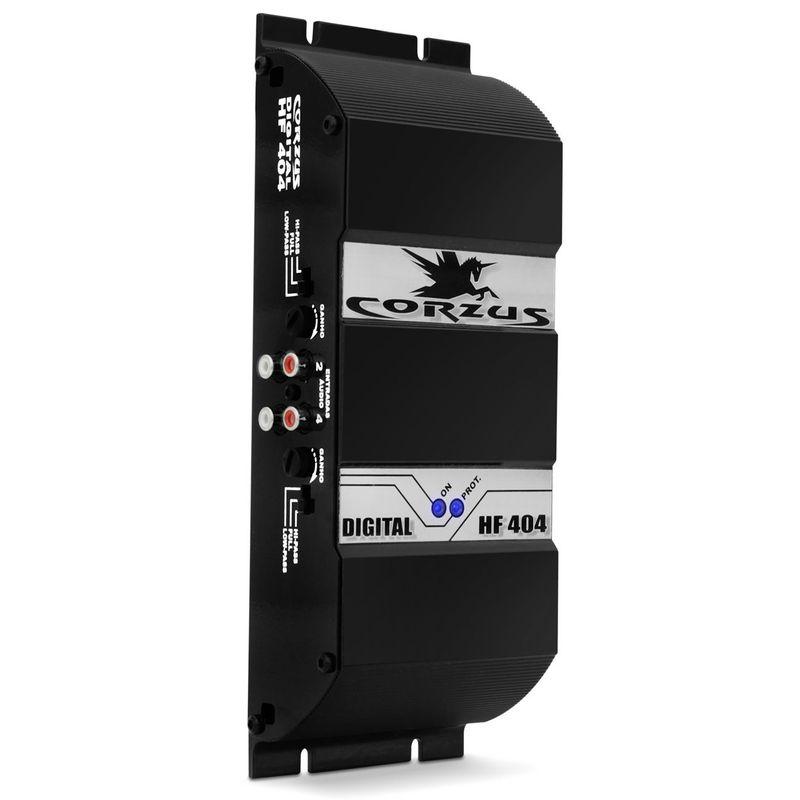 Módulo Amplificador Corzus HF 404 400W RMS 2 Ohms 4 Canais Digital