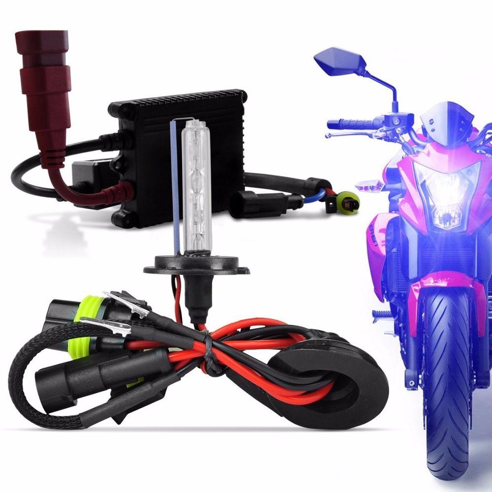 kit xenon moto slim 6000k 8000k h1 h3 h7 h11 hb3 hb4 h4 2 connect parts. Black Bedroom Furniture Sets. Home Design Ideas