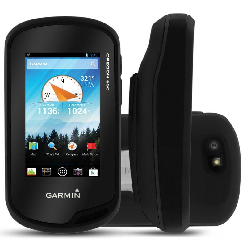 GPS Portátil Garmin 3 Polegadas Bussóla 3 Eixos Trilha Oregon 650