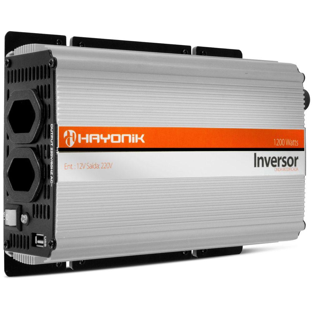 Inversor 1200w conversor transformador tens o 12v para 220 - Transformador 220 a 12v ...