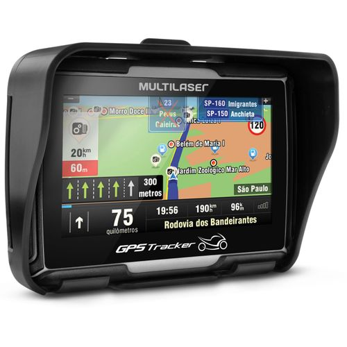GPS Multilaser Tracker 2 Moto 4,3 Polegadas Touch Screen Bluetooth