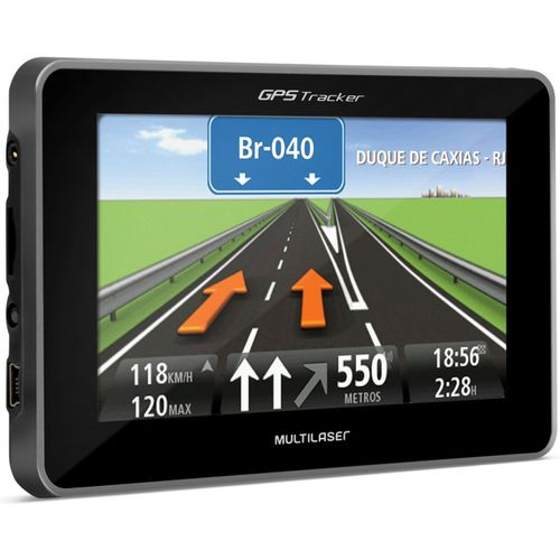 GPS Multilaser Tracker com Tela 4.3 Touch Screen Mp3