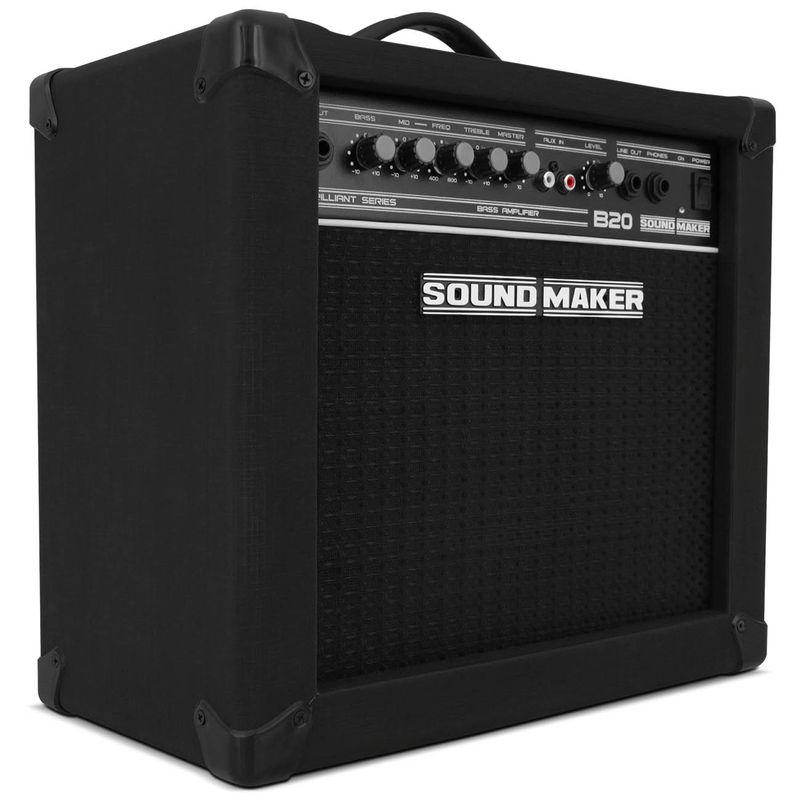 Caixa Amplificada Contra Baixo Sound Maker Cube B20 Brilliant Series 20W Preta