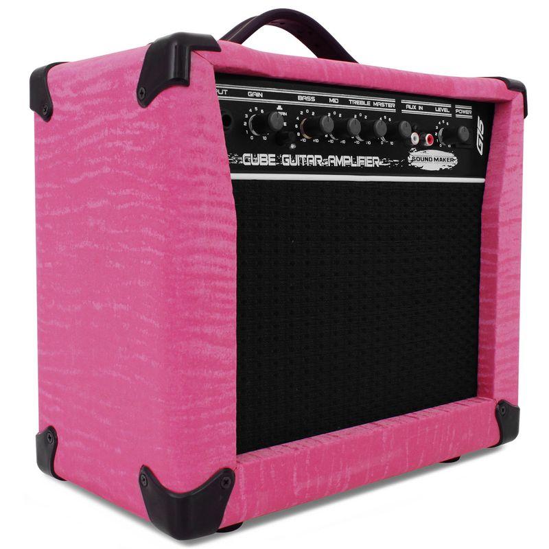 Caixa Amplificada Guitarra Sound Maker Cube G15 15W Rosa