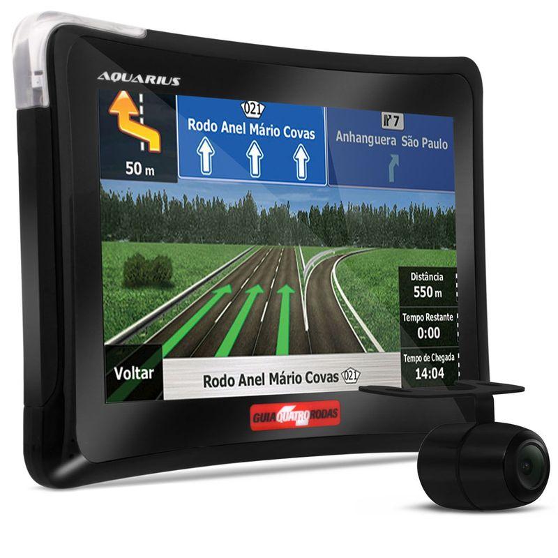GPS Automotivo Aquarius Guia Quatro Rodas 7.0 Polegadas TV Digital Câmera Ré