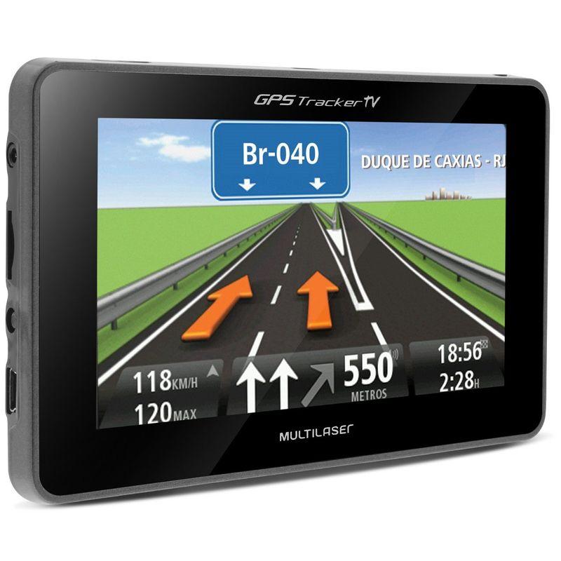 GPS Automotivo Multilaser Tracker 4.3 Polegadas MP3 MP4 TV Digital