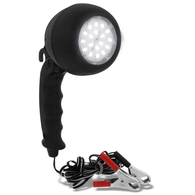 Pendente Luz Emergência LEDs Branca Socorro Automotiva 12V Garras Jacaré