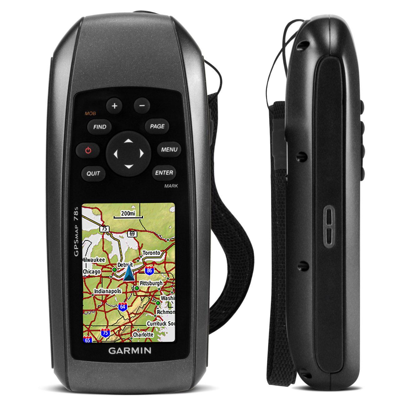 GPS Portátil Garmin 2.6 Polegadas Bússola À Prova de Água Aquático GPSMAP 78s
