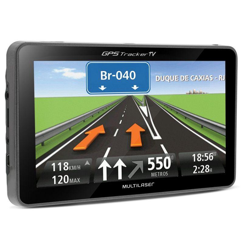 GPS Automotivo Multilaser Tracker TV GP036 5 Polegadas TV Digital Rádio FM