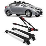 Kit-Rack-Teto-Travessa-HB20-Sedan-12-a-15-4-Portas-Preto-2-Pecas---Rack-Transbike-Connect-Parts--1-