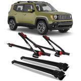 Kit-Rack-Teto-Travessa-Jeep-Renegade-15-16-Preto-2-Pecas---2-Rack-Transbike-Connect-Parts--1-