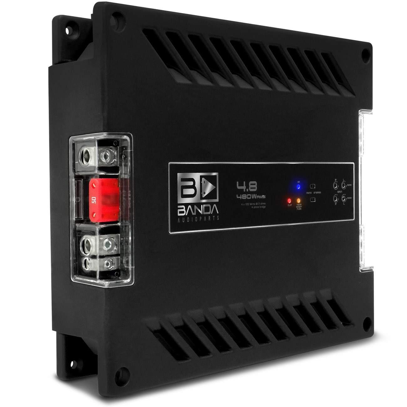 Módulo Amplificador Banda Voxer 4.8 480W RMS 4 canais 2 Ohms
