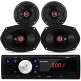 MP3-Player-Multilaser-One-1-Din-USB-SD-FM-P3213---Kit-4-Falantes-Foxer-Connect-Parts--1-