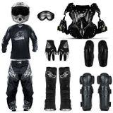 Conjunto-Moto-Cross-Black-Camiseta-M-Calca-44-Bota-Luva-Joelheira-Oculos-Capacete-58-cotoveleira-Connecty-Parts--1-