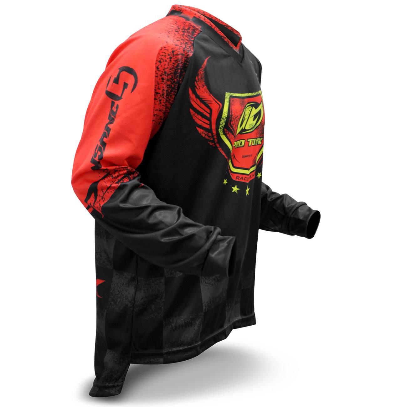 Camisa Motocross Pro Tork Insane 5 Adulto Vermelho Preto Trilha Tamanho GG