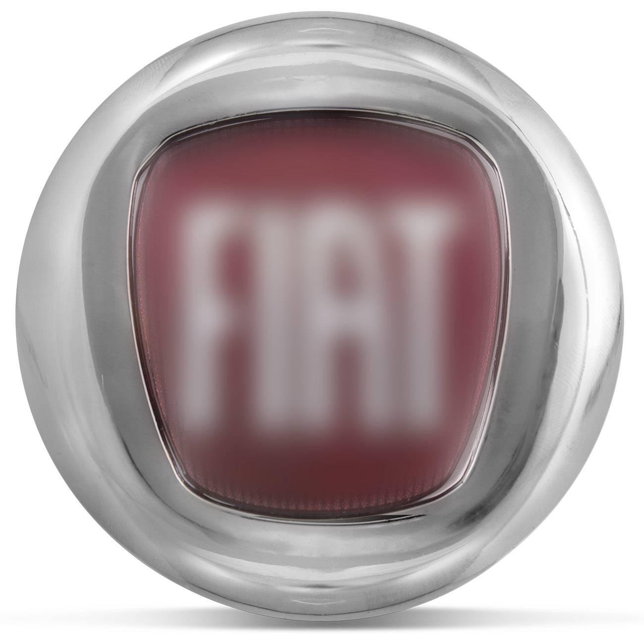 Emblema Fiat Cromado Vermelho Porta Malas 7,5cm