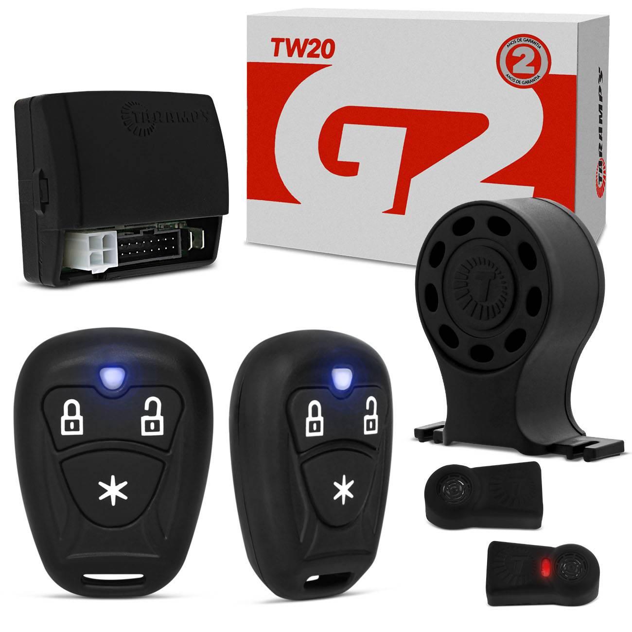 Alarme de Carro Taramps TW20 Universal 2 Controles
