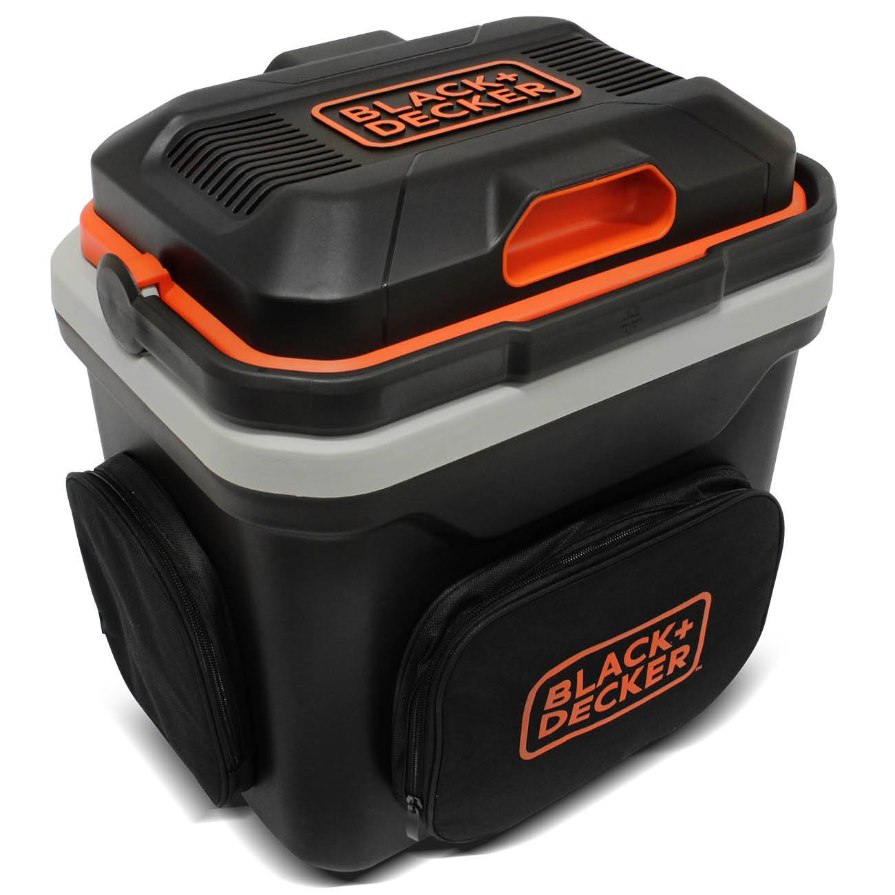 Mini Geladeira Portátil Black+Decker Termoelétrica 24 L 12V Refrigera Aquece Preto Laranja