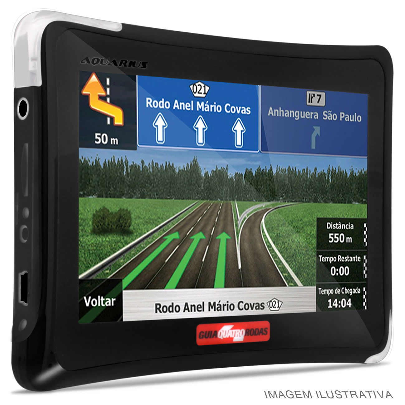 GPS Automotivo Aquarius Guia Quatro Rodas 4,3 Polegadas + TV