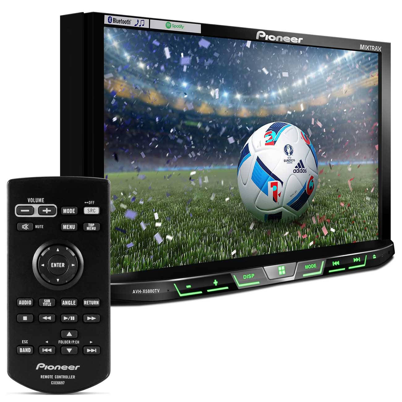 DVD Player Pioneer AVH - X5880TV 2 Din 7 Polegadas USB Iphone Android Mixtrax Spotify