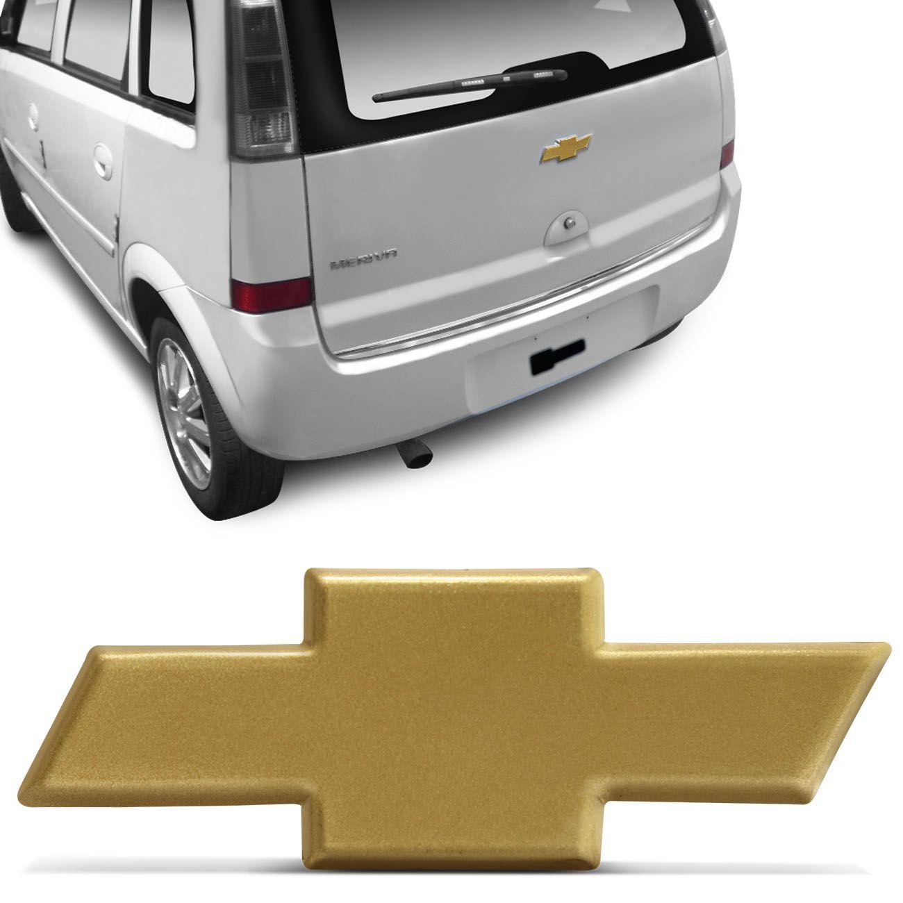 Emblema Chevrolet Gravata Dourado Meriva 01 a 12 Porta - malas