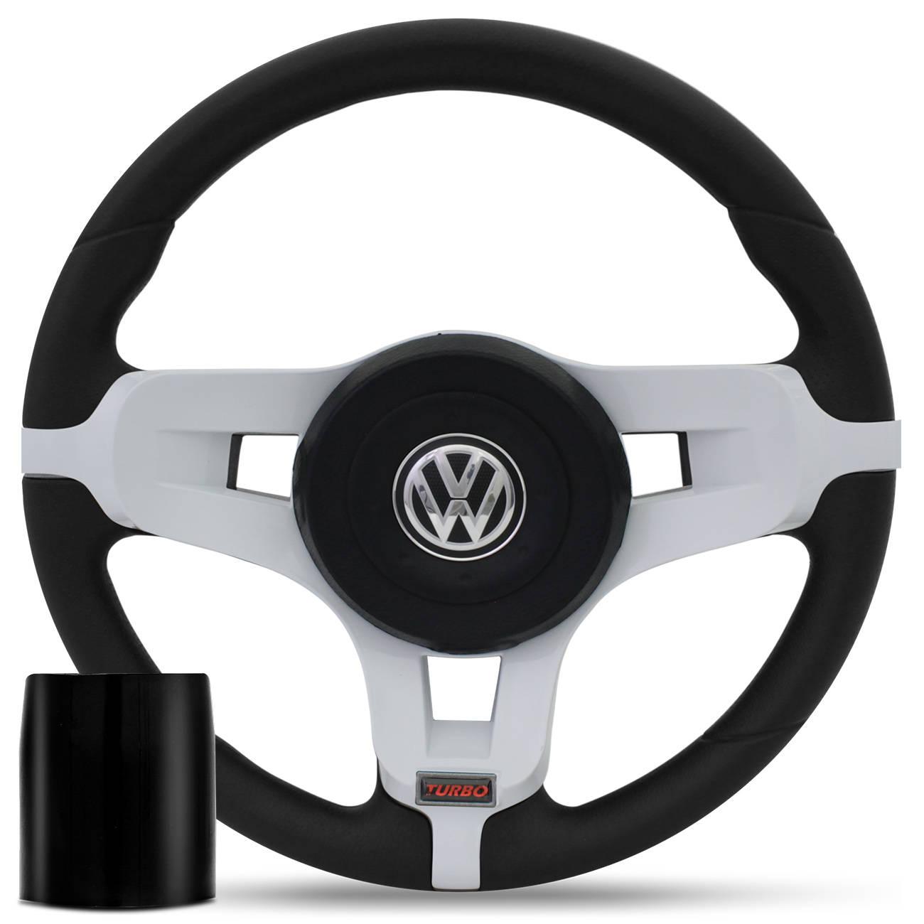 Volante Jetta Turbo Branco + Cubo Gol Parati Saveiro G2 G3 G4 Gol G6 Fox Golf e Outros VW